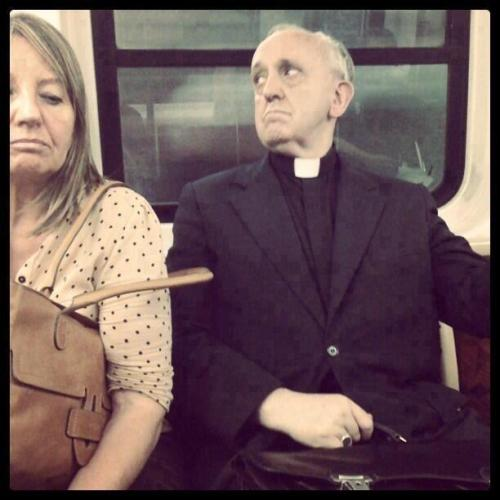 Pope Francis on an Argentinian tube