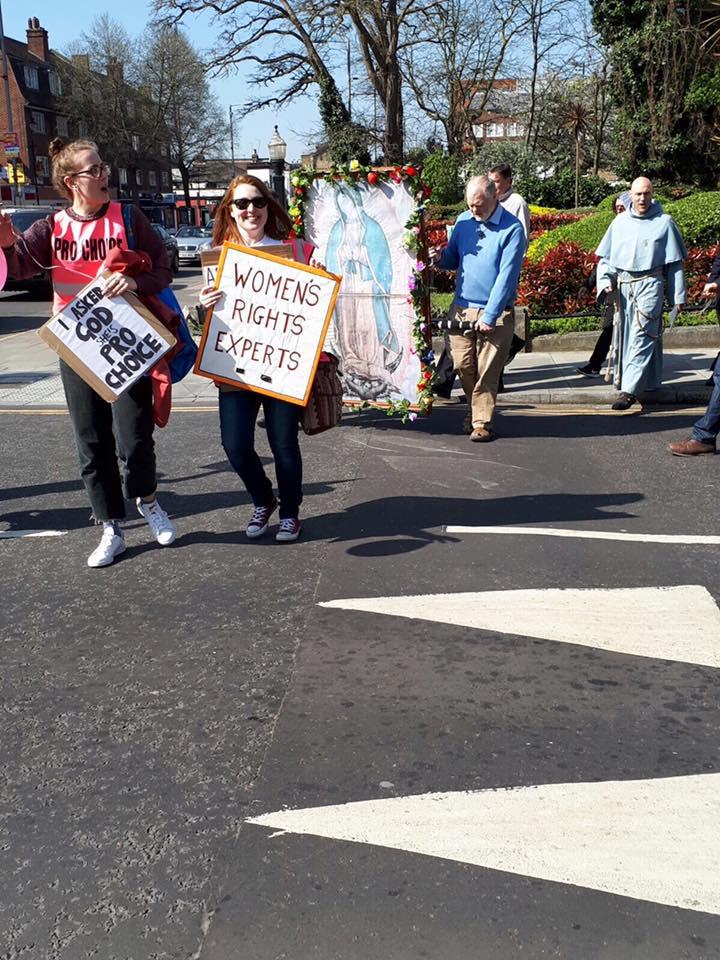 Sister Supporter blocking parade